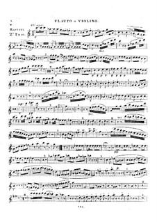 Трио для флейты (или скрипки), виолончели (или фагота) и фортепиано No.2, Op.13: Партия флейты или скрипки by Амедей Разетти