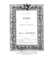Струнное трио, Op.34: Партия виолончели by Эмиль Пьер Рате