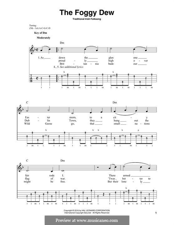 The Foggy Dew: Для голоса и фортепиано (или гитары) by folklore