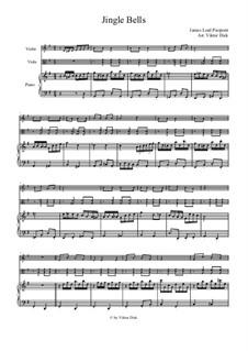 Jingle Bells: Для скрипки, альта и фортепиано by James Lord Pierpont