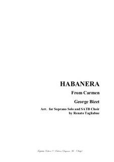 Хабанера: For soprano and SATB by Жорж Бизе