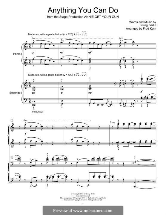 Anything You Can Do: Для фортепиано by Ирвинг Берлин