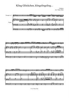 Kling Glöckchen klingelingeling: Für Trompete in C und Orgel by folklore