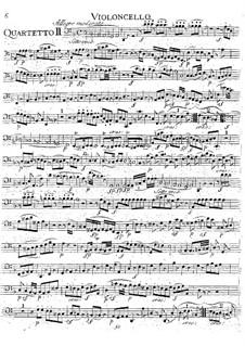 Струнный квартет No.15, K.421/K.417b: Партия виолончели by Вольфганг Амадей Моцарт