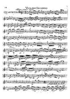 Струнный квартет No.16 ми-бемоль мажор, K.428: Партия II скрипки by Вольфганг Амадей Моцарт
