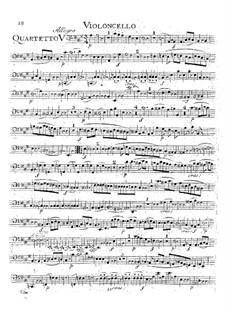Струнный квартет No.18 ля мажор, K.464: Партия виолончели by Вольфганг Амадей Моцарт