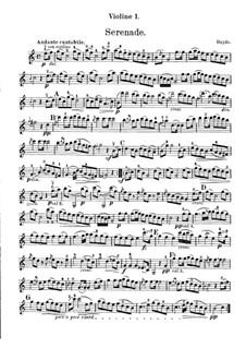 Струнный квартет фа мажор, Hob.III/17 Op.3 No.5: Movement II – parts by Йозеф Гайдн