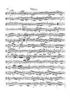 Струнный квартет No.19 до мажор 'Диссонанс', K.465: Партия альта by Вольфганг Амадей Моцарт