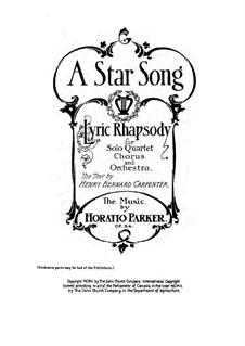 A Star Song, Op.54: Клавир с вокальной партией by Горацио Паркер