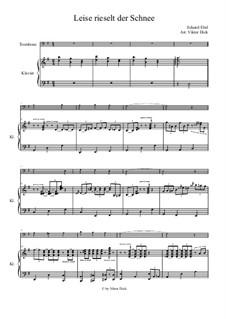 Тихо падает снег: Для тромбона и фортепиано by Eduard Ebel
