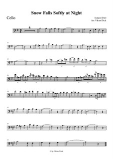 Тихо падает снег: Для виолончели by Eduard Ebel