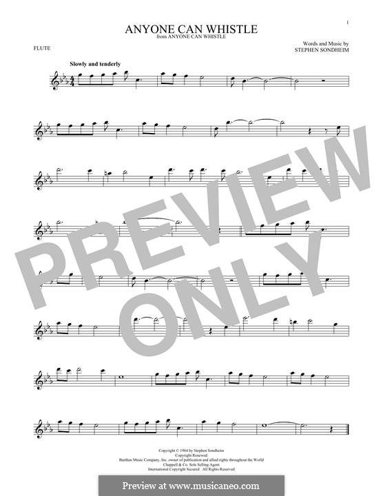 Anyone Can Whistle: Для флейты by Stephen Sondheim