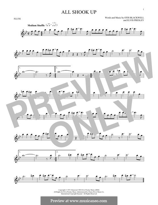 All Shook Up: Для флейты by Elvis Presley, Otis Blackwell
