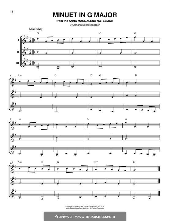 No.4 Менуэт соль мажор, BWV Anh.114: For any instrument by Иоганн Себастьян Бах
