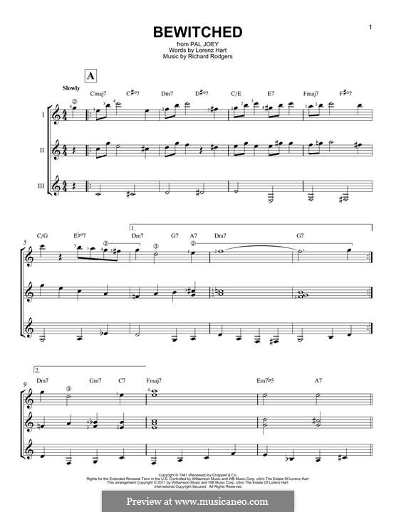 Bewitched (The Betty Smith Group): For any instrument by Richard Rodgers