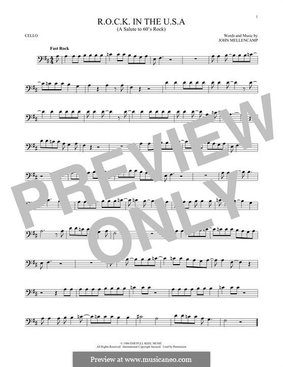 R.O.C.K. in the U.S.A. (A Salute to 60's Rock): Для виолончели by John Mellencamp