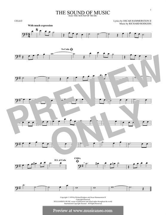 The Sound of Music: Для виолончели by Richard Rodgers