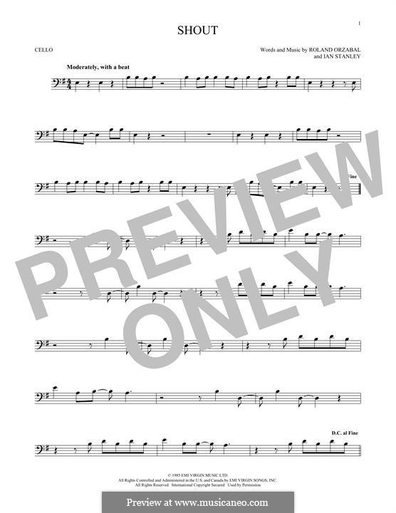 Shout (Tears for Fears): Для виолончели by Ian Stanley, Roland Orzabal