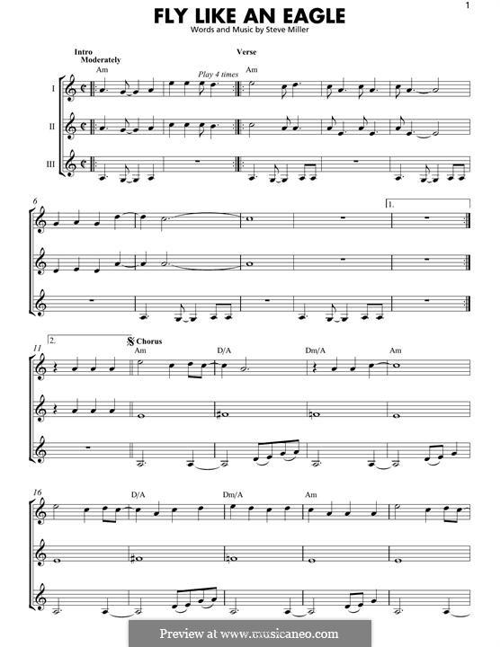 Fly Like an Eagle (Steve Miller Band): For any instrument by Steve Miller