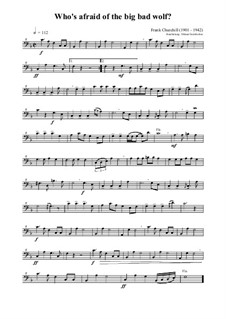 Who's afraid of the big bad wolf?: For bassoon and bass recorder by Frank Churchill