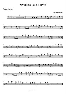 Мой дом на небе за облаками: Для тромбона by folklore