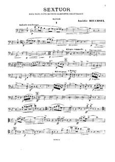 Секстет для фортепиано и духовых: Партия фагота by Амедей Рёшcель