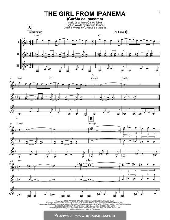 The Girl from Ipanema (Garota de Ipanema): For any instrument by Antonio Carlos Jobim