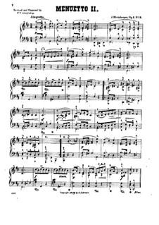 Четыре пьесы для фортепиано, Op.1: No.3 Менуэт II by Йозеф Габриэль Райнбергер