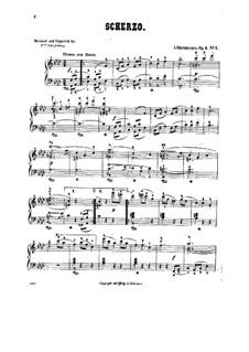 Четыре пьесы для фортепиано, Op.1: No.1 Скерцо by Йозеф Габриэль Райнбергер