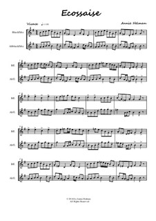 Ecossaise for recorder duo: Ecossaise for recorder duo by Annie Helman