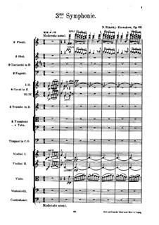 Симфония No.3 до мажор, Op.32: Партитура by Николай Римский-Корсаков