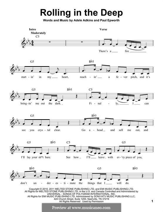 Vocal-instrumental version: Текст, аккорды by Adele, Paul Epworth