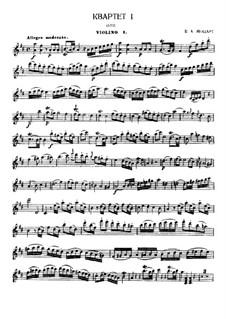 Струнный квартет No.2 ре мажор, K.155: Партии by Вольфганг Амадей Моцарт