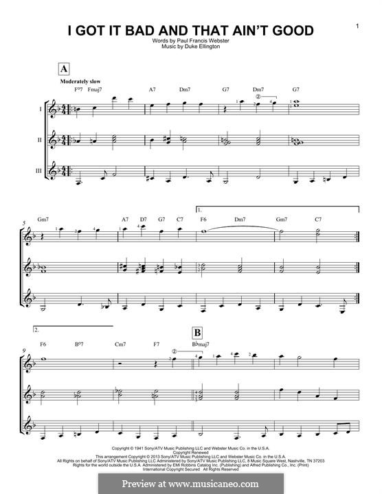 I Got It Bad and That Ain't Good: For any instrument by Duke Ellington