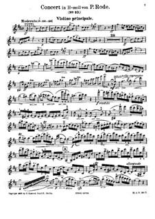 Скрипичный концерт No.10 си минор, Op.19: Сольная партия by Пьер Роде
