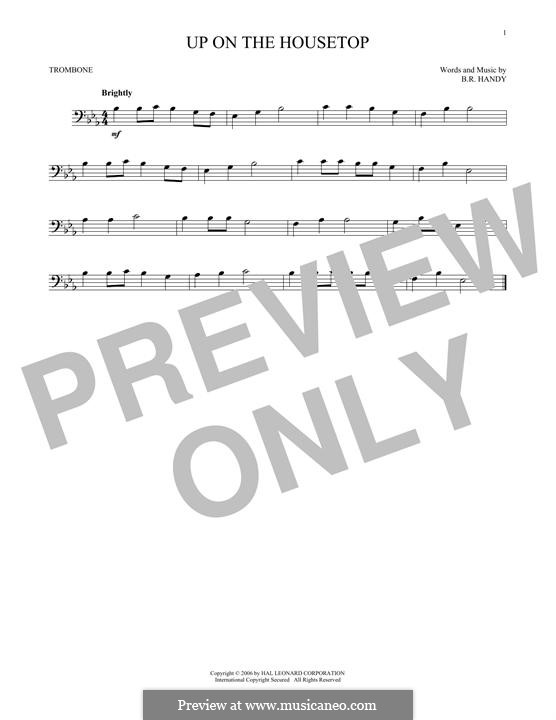 Up on the House Top: For trombone by Benjamin Russel Hanby