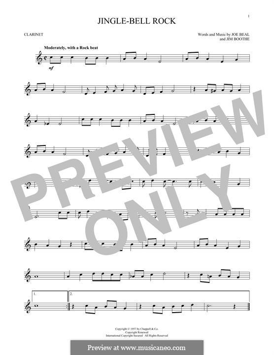 Jingle Bell Rock: Для кларнета by Jim Boothe, Joe Beal