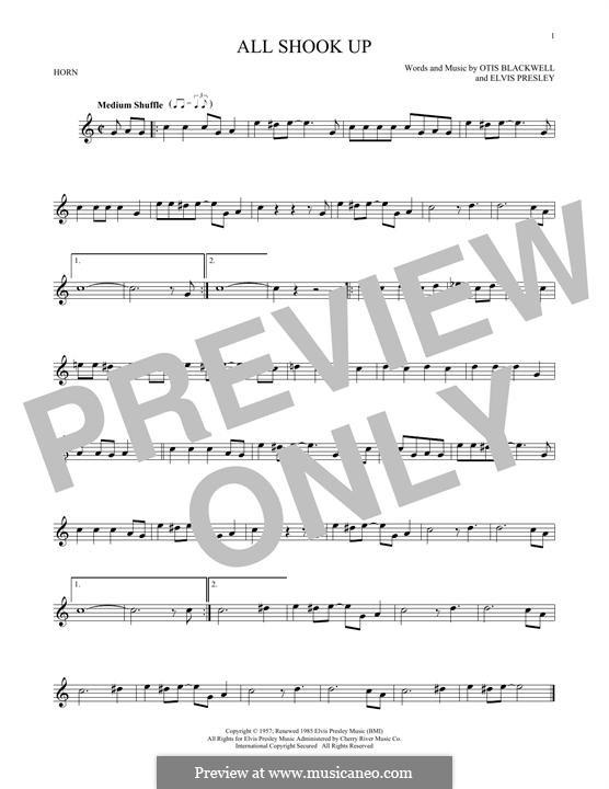 All Shook Up: For horn by Elvis Presley, Otis Blackwell
