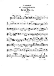 Фантазия для скрипки и фортепиано, Op.24: Сольная партия by Юлиус Рентген