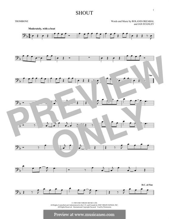 Shout (Tears for Fears): For trombone by Ian Stanley, Roland Orzabal