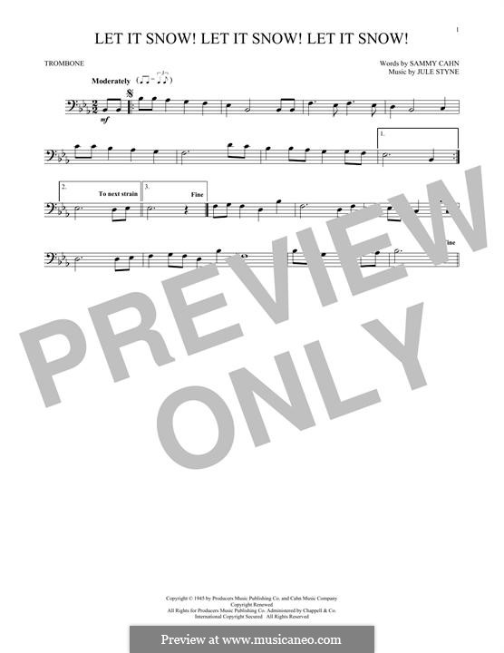 Let It Snow! Let It Snow! Let It Snow!: For trombone by Jule Styne
