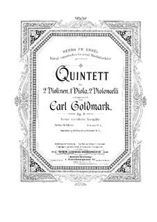 Струнный квинтет ля минор, Op.9: Партии скрипок by Карл Голдмарк
