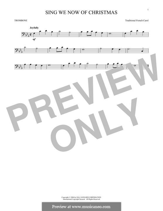 Sing We Now of Christmas (from Morning Star): For trombone by folklore
