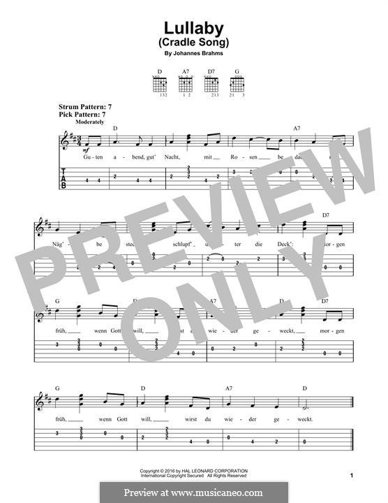 No.4 Колыбельная: Для гитары by Иоганнес Брамс
