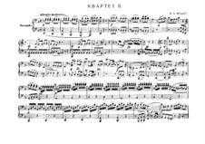 Струнный квартет No.15, K.421/K.417b: Переложение для фортепиано в четыре руки by Вольфганг Амадей Моцарт