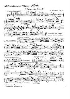 Старинные французские танцы, Op.11: Партии by Генрих Шеррер