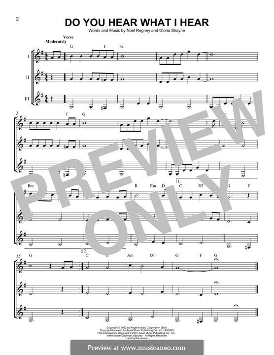 Do You Hear What I Hear (Instrumental version): For any instrument by Gloria Shayne, Noël Regney