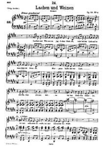 Lachen und Weinen (Laughter and Tears), D.777 Op.59 No.4: Для низкого голоса и фортепиано by Франц Шуберт