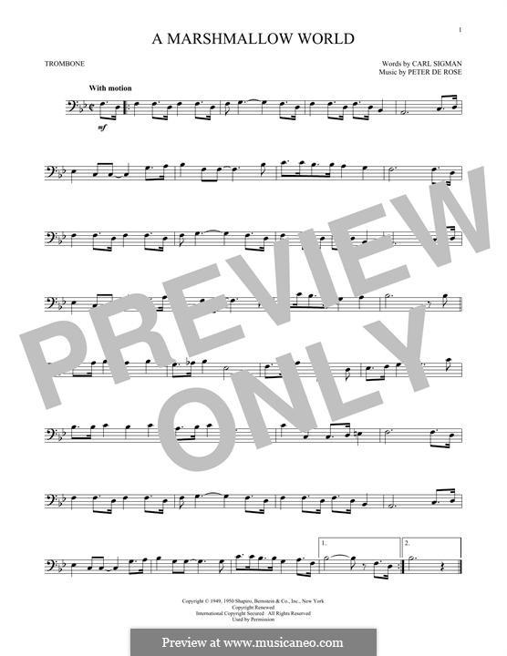 A Marshmallow World: For trombone by Peter de Rose