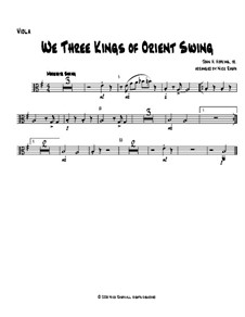 We Three Kings of Orient Swing: For string orchestra - viola part by John H. Hopkins Jr.